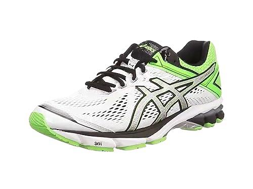 Asics GT 1000 4, Zapatillas para Hombre, Blanco White Black Green 0190, 43 1/2 EU: Amazon.es: Zapatos y complementos