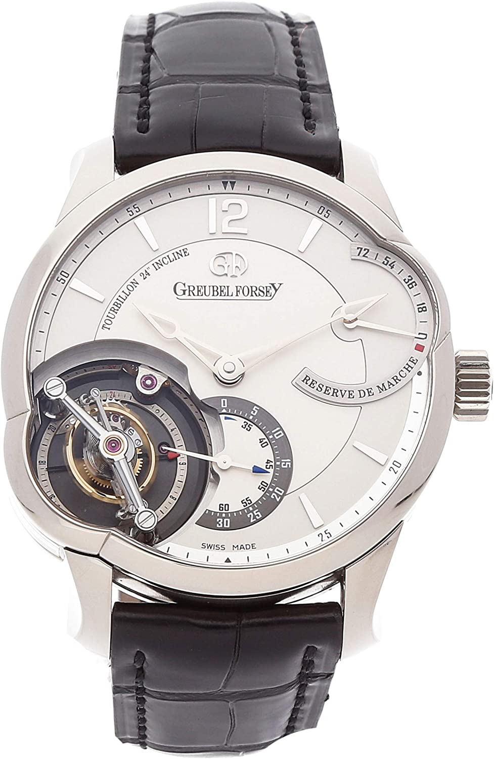 Greubel Forsey Tourbillon Mechanical (Hand-Winding) Silver Dial Mens Watch GF01 (Certified Pre-Owned)