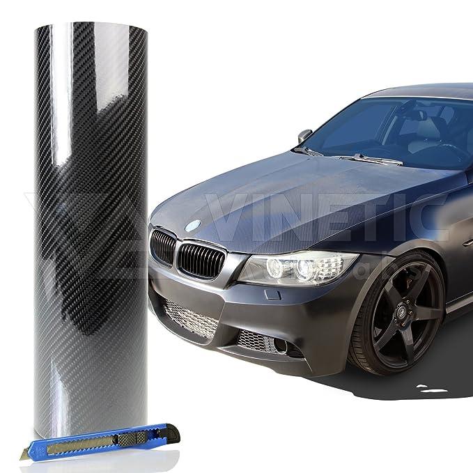 """*60/""""x72/"""" 3D Matte Gray Carbon Fiber Textured Car Vinyl Wrap Sticker Decal Film"""