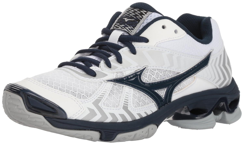 Mizuno Women's Wave Bolt 7 Volleyball Shoe B0782831VF Women's 6.5 B US|White/Navy