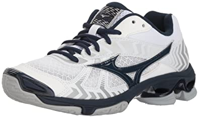 dfe583798 spain mizuno womens wave bolt 7 volleyball shoe white navy 0584d ac9b9