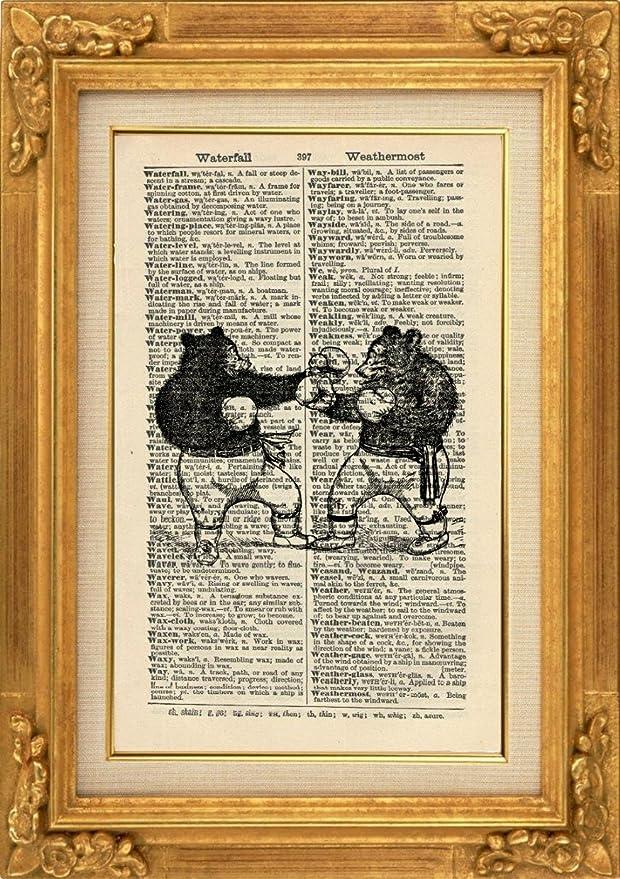 Boxen Bears Kunstdruck – Kunstdruck Der Tiere – Artwork – Sport ...