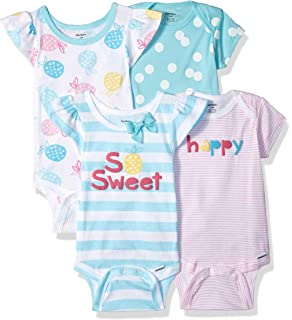 f3c87e6e2 Amazon.com  Baby Jay White Short Sleeve Onesie - Ultra Soft Cotton ...