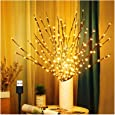 3 Pack Branch Lights for Vase, Warm White Lighted Twig Branches 60 LED Lights Artificial Tree Willow Lighted Branches for Home Holiday Party Decoration Decor Battery Operated