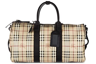 7960d5b281ff Burberry travel duffle weekend shoulder bag haymarket boston 52 beige