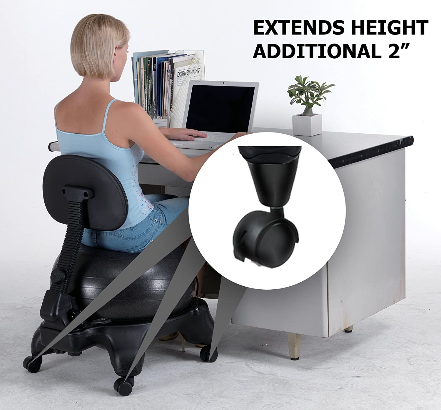 "Amazon Sivan Height Extenders 2"" for Balance Ball Chairs"