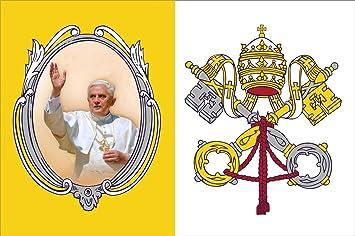 Michael Rene Pflüger Barmstedt Premium Aufkleber 8 4x5 4 Cm Vatikan Papst Benedikt Xvi Sticker Auto Motorrad Bike Autoaufkleber Auto