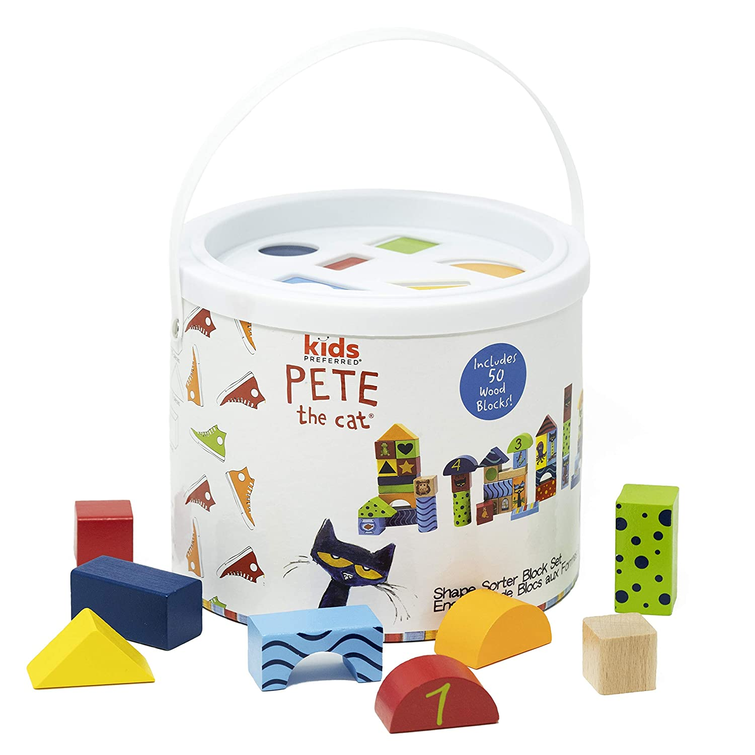 Pete The Cat - Wood Stacking Block Set - 50 Pieces