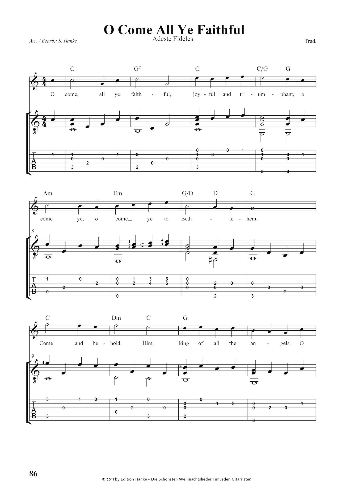 Die schönsten Weihnachtslieder für jeden Gitarristen. Über 70 der ...