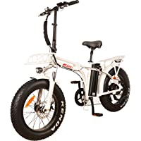 NEW! DJ Folding Bike 750W 48V 13Ah Power Electric Bicycle, Samsung Lithium-Ion Battery, 7 Speed, Pearl White, LED Bike Light, Suspension Fork And Shimano Gear