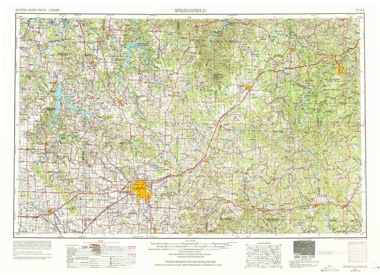 Springfield Colorado Map.Amazon Com Yellowmaps Springfield Mo Topo Map 1 250000 Scale 1 X