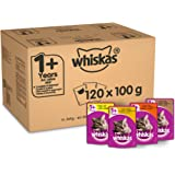 Whiskas 1+ Cat Pouches Poultry Selection in Jelly, 100 g, Pack of 120
