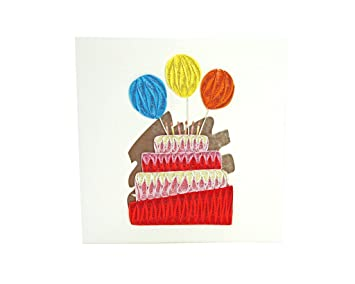 PopLife Birthday Cake Balloons Quilled Greeting Card For All Occasions