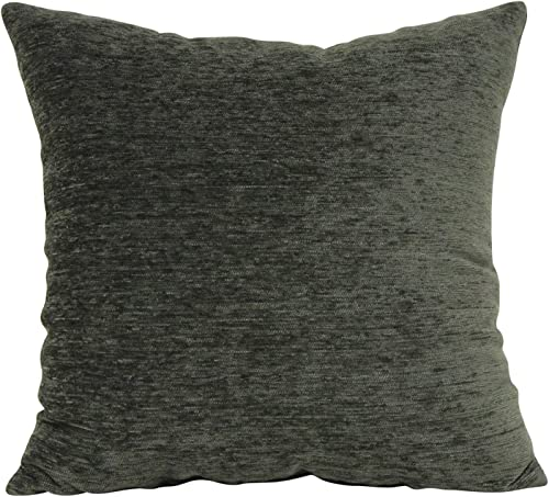 Brentwood Originals Chenille Pillow, 24×24, Green