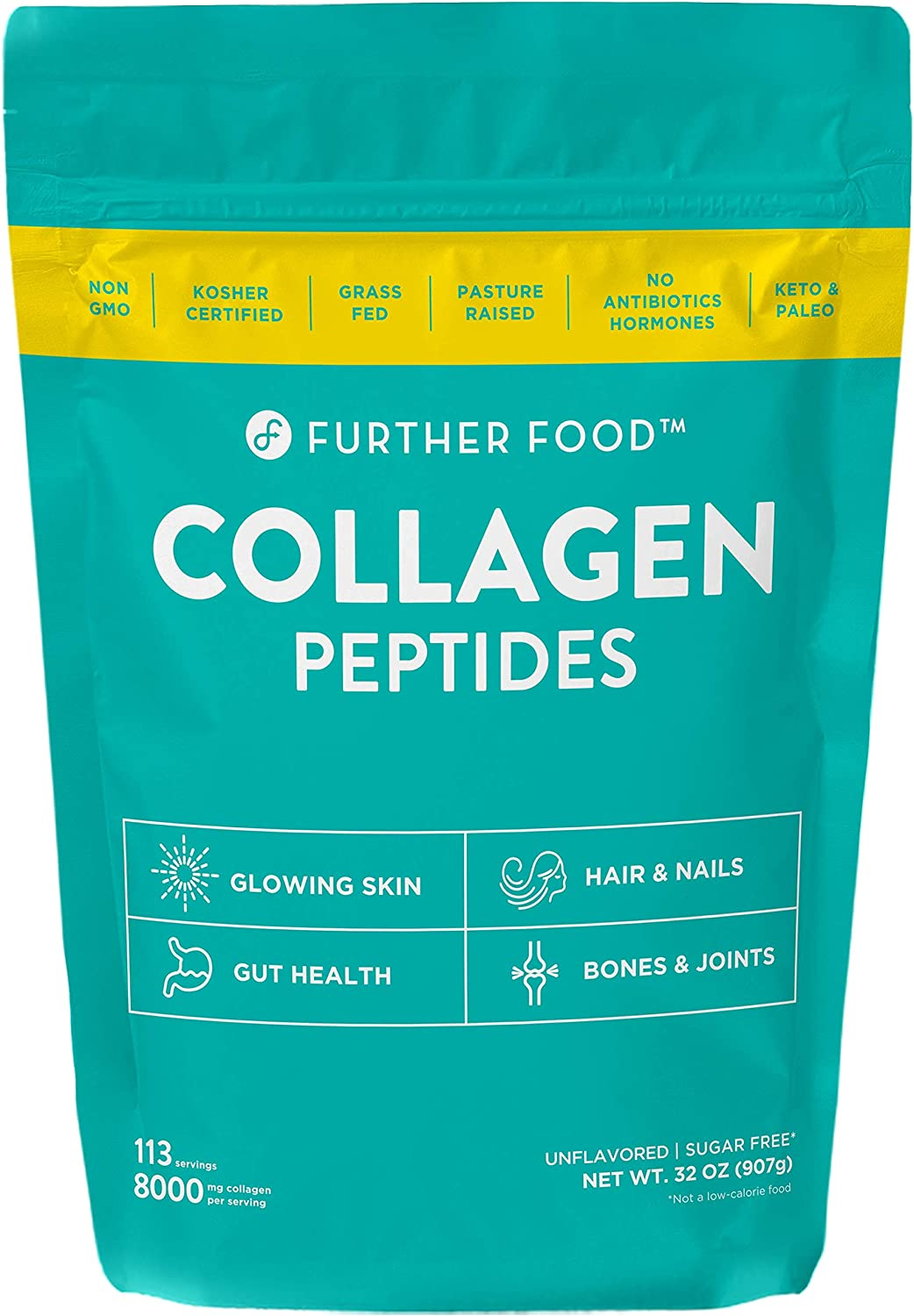 Further Food Collagen Peptides Protein Powder, 32oz
