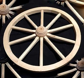 Rueda de Carro Wagon grande 70 madera maciza mejor calidad detalles woodeeworld: Amazon.es: Jardín