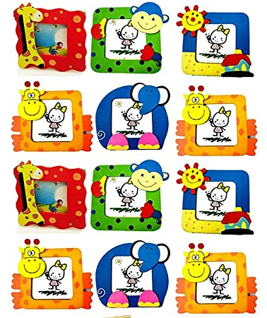 New Creations Pack Of 20 Wooden Photo Frame For Kids Birthday Return