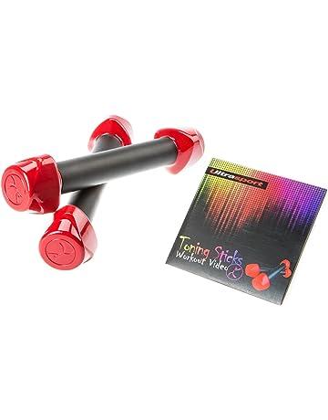 Ultrasport Set de danza/fitness formado por dos mancuernas Toning Sticks y DVD de entrenamiento