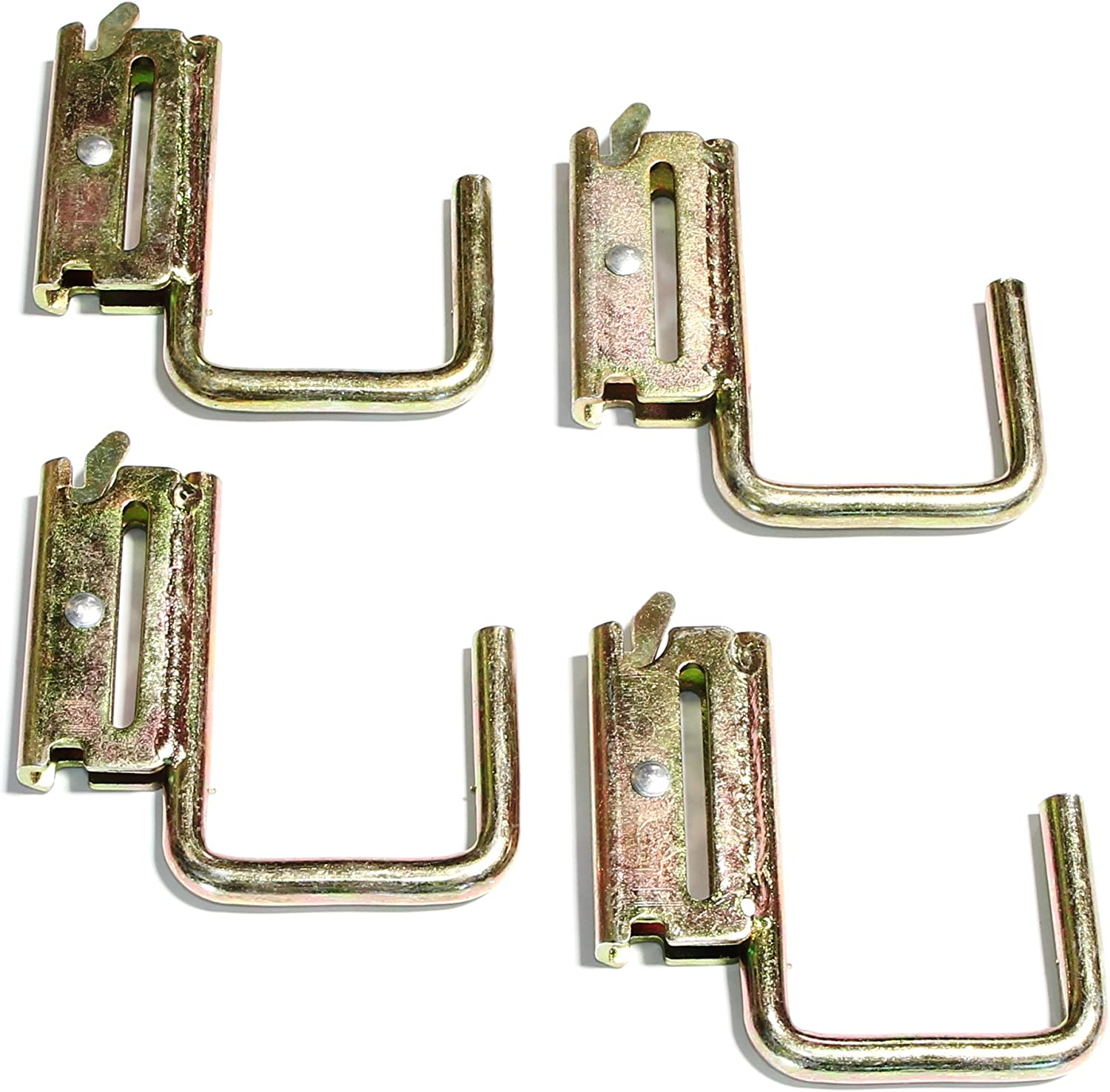 Pack of 4 E-Track Steel JHook Tie Down with Spring Fitting WorldPac