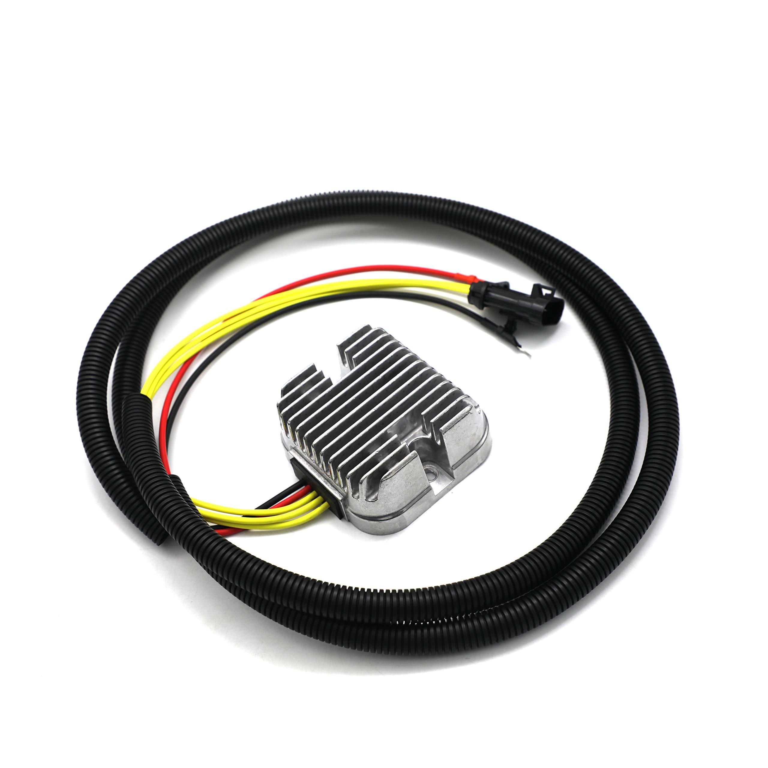 Line length 59in Mosfet Voltage Regulator Rectifier For Polaris Hawkeye 325/Sportsman 325 ETX/Sportsman 450 HO//Sportsman 570/570 Touring/X2 570 2014-2018 4014543 4015230 4015214 4015231 4014405 by weishine