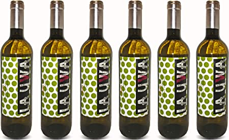 LAUWA Vino Blanco 2018, D.O.Ca. Rioja, Tempranillo, Pack de 6 Botellas de 750ml