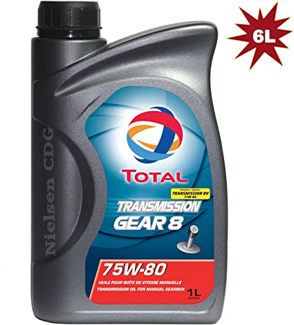 Total Transmisión Gear 8 75W80 Aceite de caja de cambios manual 6 x 1 l=6 litros: Amazon.es: Coche y moto