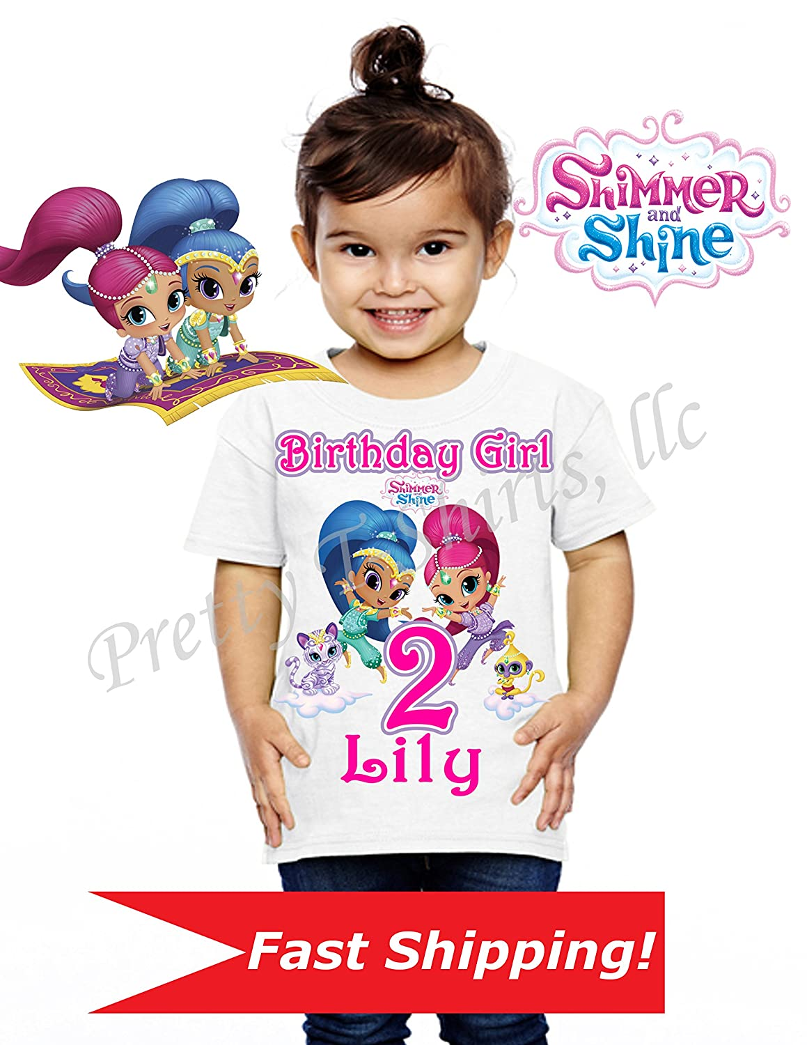 Shimmer and Shine Birthday Shirt, Family Birthday Shirts, Shimmer and Shine Shirt, Shimmer and Shine Party Favor, Add ANY name and Age, Shimmer and Shine, VISIT OUR SHOP!!