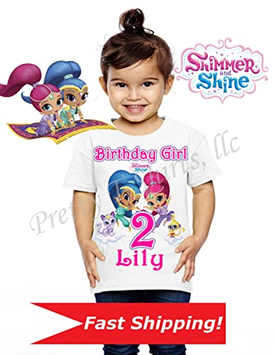 Shimmer And Shine Birthday Shirt Family Shirts Party Favor Add ANY Name Age