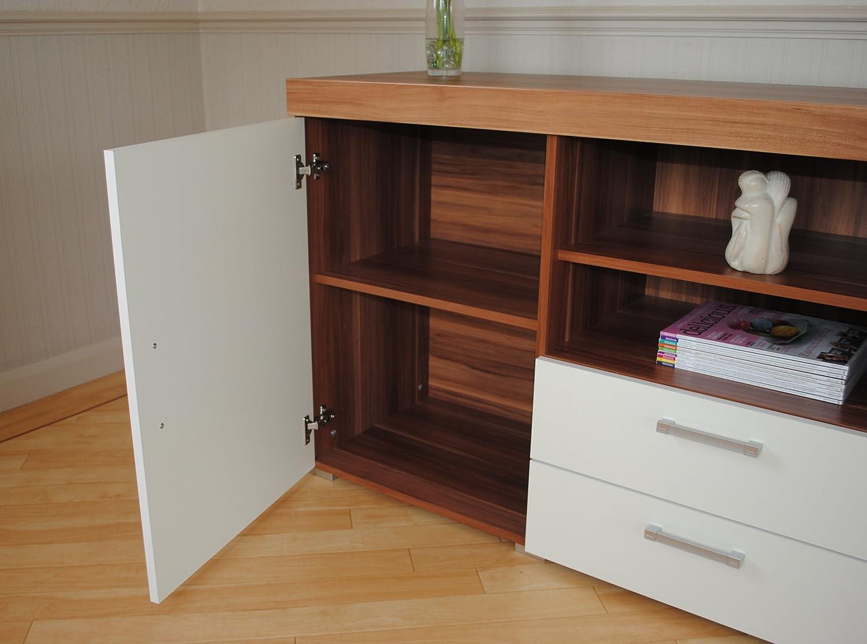 Walnut Living Room Furniture Sets White Walnut Sydney Large Sideboard Tv Cabinet 140cm Unit