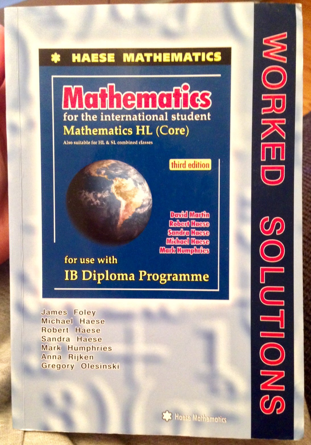 haese ib math worked solution hl