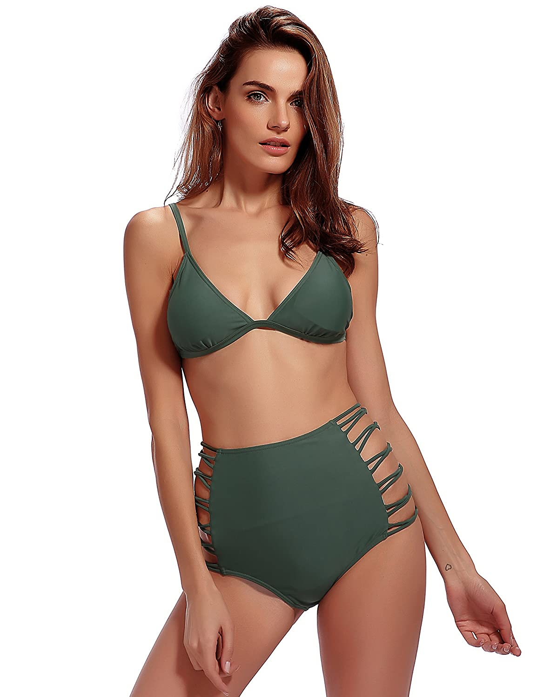 cbe9beb4a6da6 Women\'s Bikini Swimsuits Set: 84% Polyester/16% Spandex Imported  Comfortable and Stretchable Bikini Fabric : High flexibility and elasticity  fabric without ...
