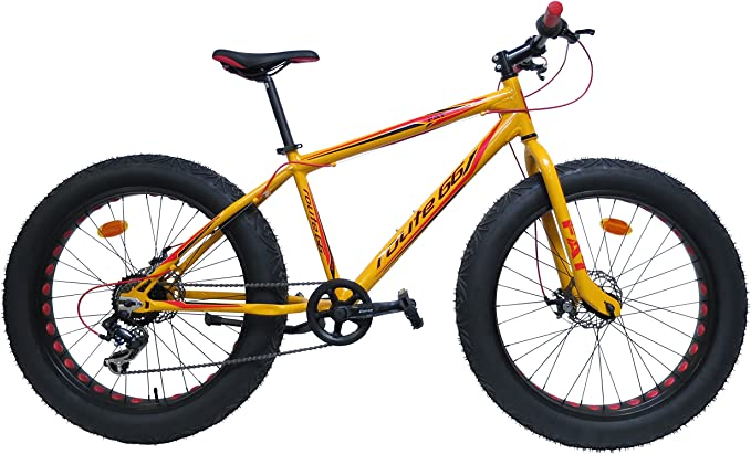 Bicicleta Route 66 de ruedas gruesas de 26 pulgadas, de aluminio
