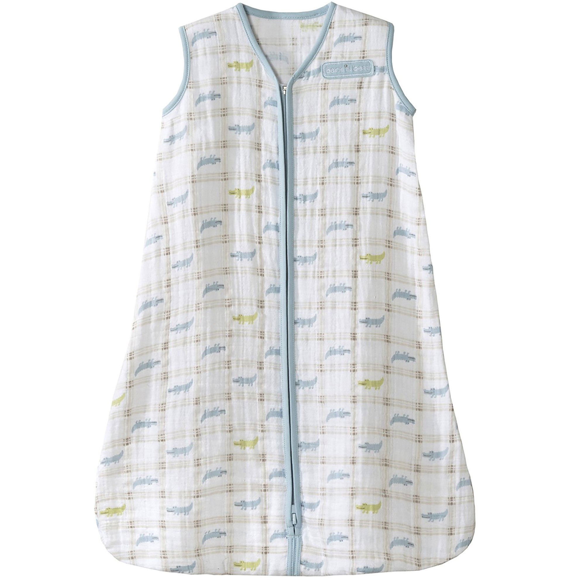HALO 100% Cotton Muslin Sleepsack Wearable Blanket, Gator Plaid, Medium by Halo