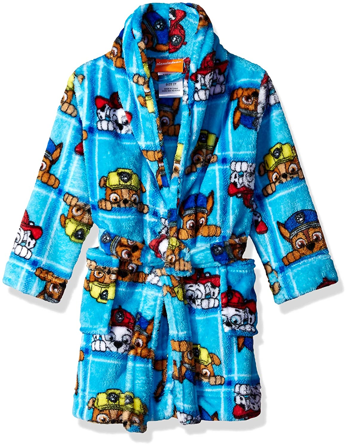 Nickelodeon Boys' Toddler Paw Patrol Luxe Plush Robe