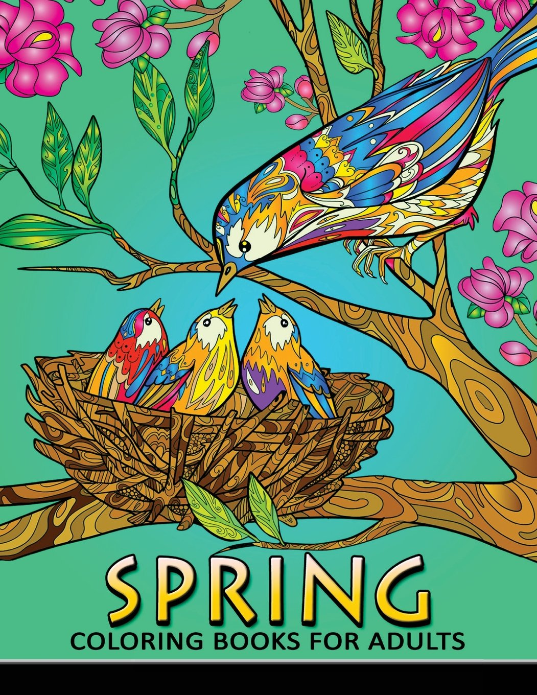 Spring Coloring Books For Adults Coloring Book Easy Fun