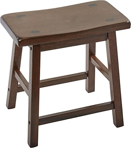 ACME 0 Set of 2 Gaucho Stool, 18-Inch, Walnut Finish.