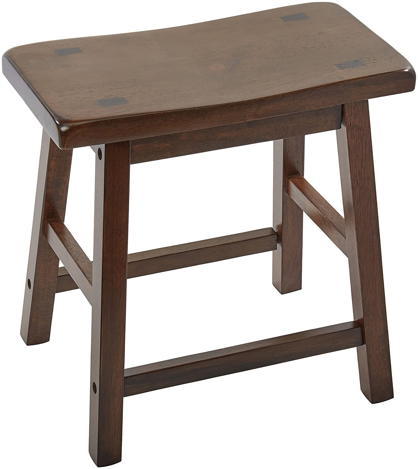 ACME 07303 Set of 2 Gaucho Stool, 18-Inch, Walnut Finish. ACME Furniture