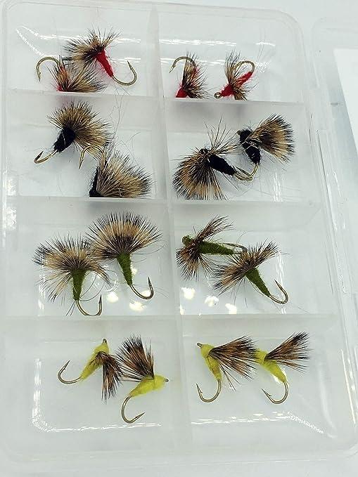 Pesca con mosca COMPARANDUN para moscas secas 16 unidades + free Fly caja Pack # 311,: Amazon.es: Deportes y aire libre