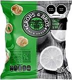 Crops & Bros Botana Horneada Hecha de Arroz, Quinoa, Lenteja y Mijo, Sabor Limón y Sal, 25 g