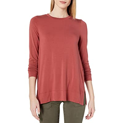 Brand - Daily Ritual Women's Long-Sleeve Split-Hem Tunic: Clothing