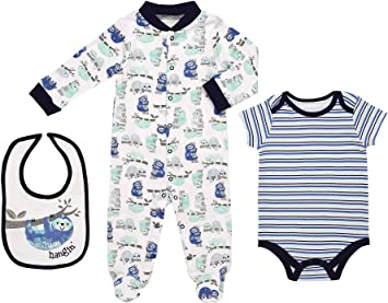 6963fb406 Image Unavailable. Image not available for. Color: Mini B. by Baby Starters  3-Piece Layette Set- Blue/Just Hanging