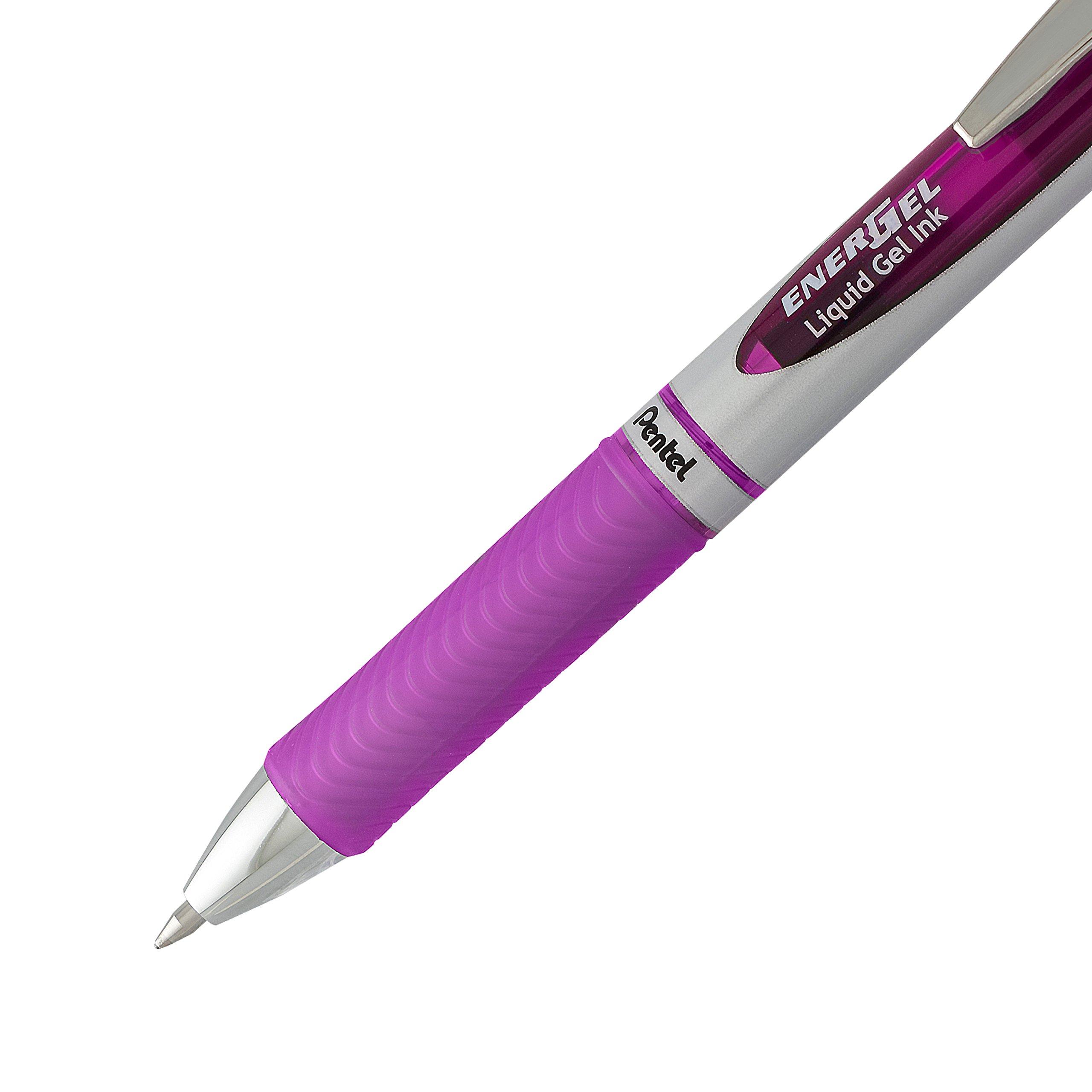 Pentel EnerGel Deluxe RTX Gel Ink Pens, 0.7 Millimeter Metal Tip, Assorted Colors,  6 Pack (BL77BP6M) by Pentel (Image #3)