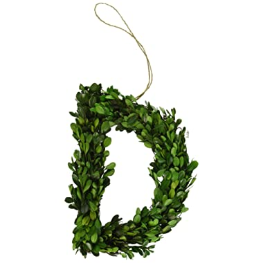 Modern Home BOXWOODLETTERS-D, 12 , Green-D
