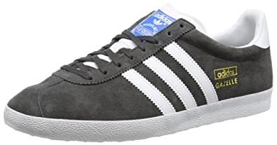 55b9a937424f adidas Men s Gazelle OG Trainers Grey Grau (DGH Solid Grey FTWR White Dark