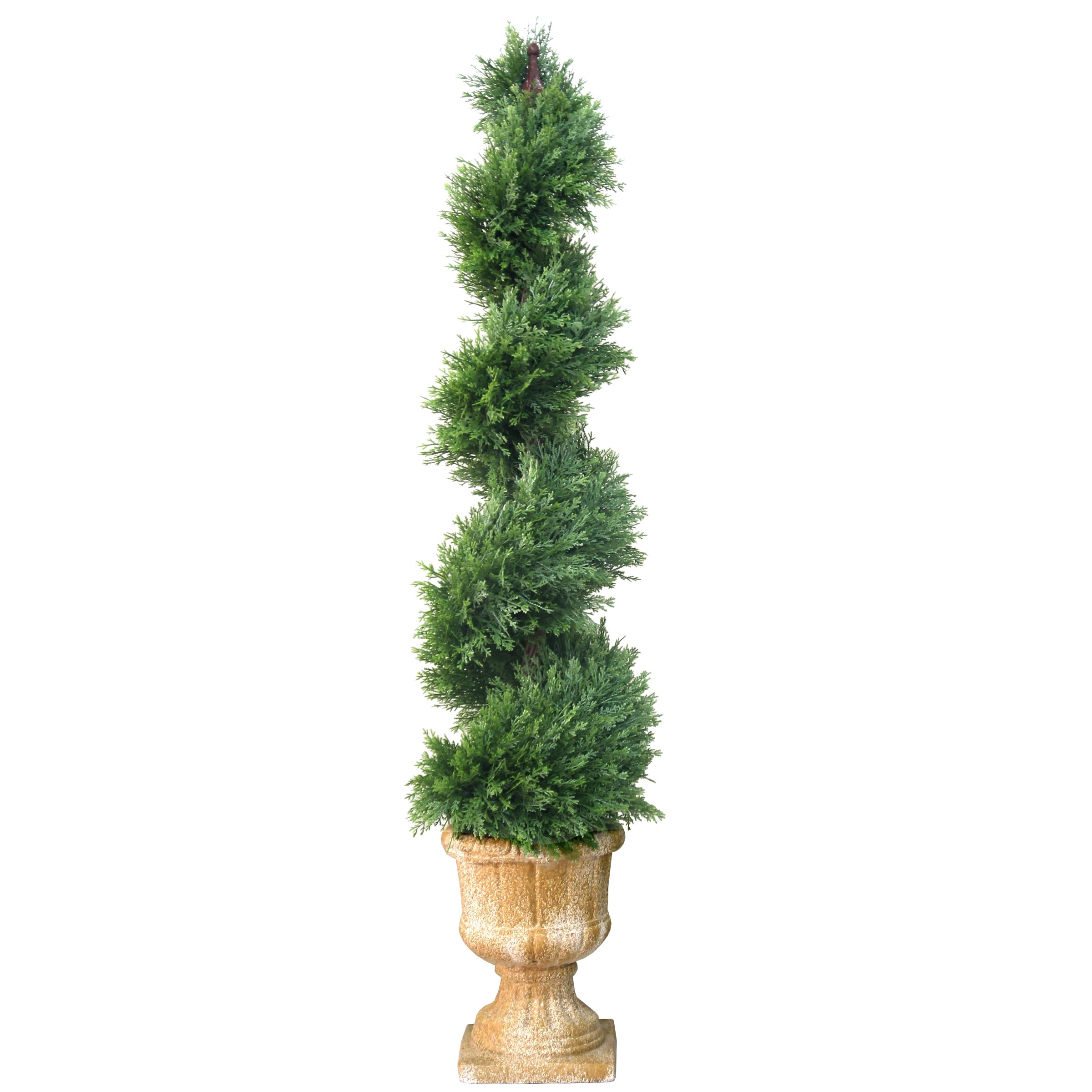 National Tree 54 Inch Artificial Slim Juniper Spiral Tree (LCYSP4-710-54)