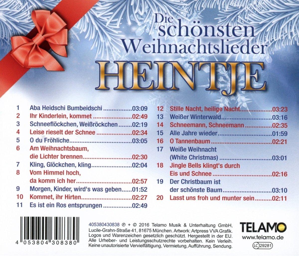 Die Schönsten Weihnachtslieder - Heintje: Amazon.de: Musik
