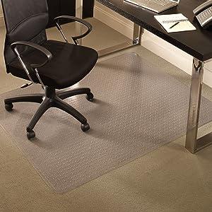 """ES Robbins Everlife 60"""" x 96"""" Medium Pile Series Rectangle Anchorbar Chair Mat, Clear"""