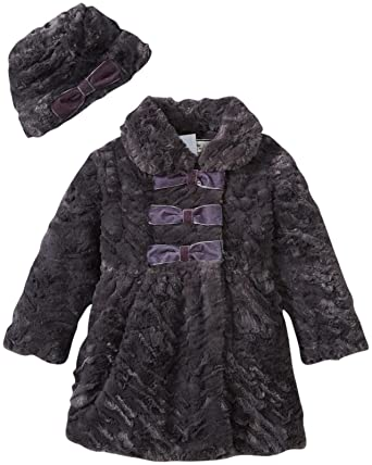 Amazon.com  Widgeon Little Girls  Faux Fur Coat and Hat Set (Toddler ... e75416b26