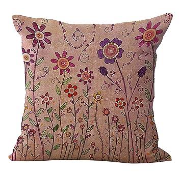 Amazon.com: chezmax Patrón Mezcla las flores & Árbol de lino ...