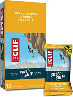 product image for Clif Bars - Sweet & Salty Energy Bars - Peanut Butter & Honey with Sea Salt - Made with Organic Oats - Vegetarian Food - Kosher (2.4 Ounce Protein Bars, 12 Count) Packaging May Vary
